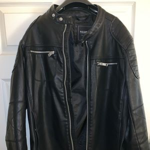 Pull & bear leather motorcycle jacket